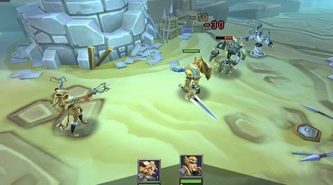 ロードモバイル ヒーロー戦闘画面