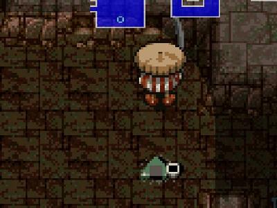 掛軸裏の洞窟 おにぎり確保