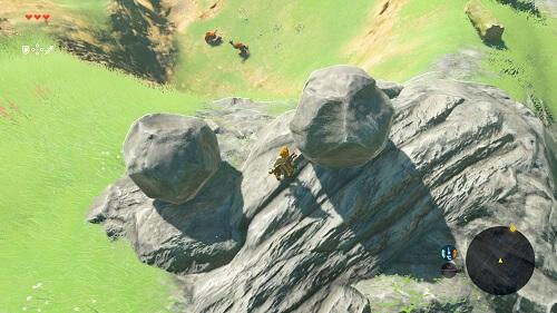ゼルダ 岩落とし