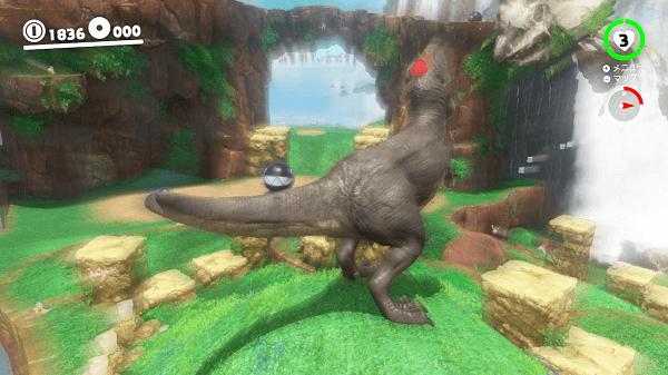 マリオオデッセイ キャプチャー 恐竜